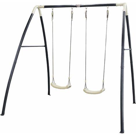 Portique balançoire double en métal Swing