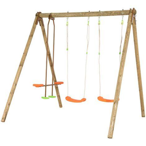 Portique bois 4 enfants 2,3 m Trigano DARIFOU
