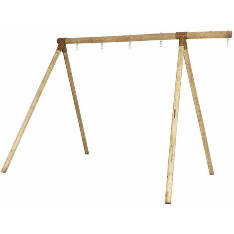 Portique bois évolutif SPEEL TRIGANO 2,30 m. 3 enfants - Structure seule