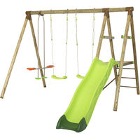 Portique en bois AZUKI Trigano 2,30 m. + toboggan 5 enfants
