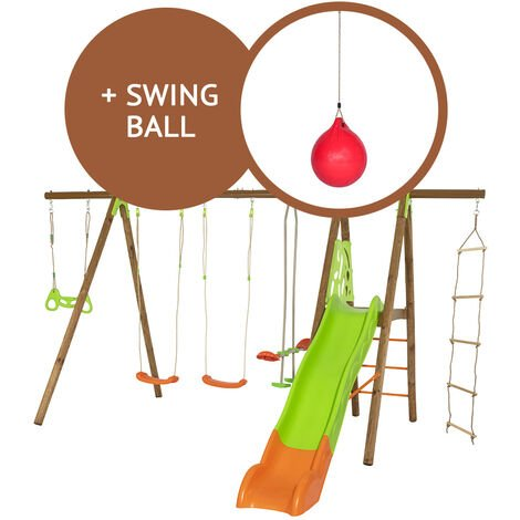 Portique Octavo en bois et métal + Swing ball - Trigano