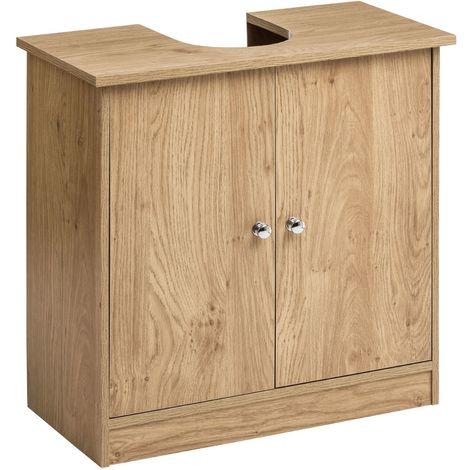 Portland Under Sink Oak Veneer Tidy Organiser Bathroom Storage Cabinet