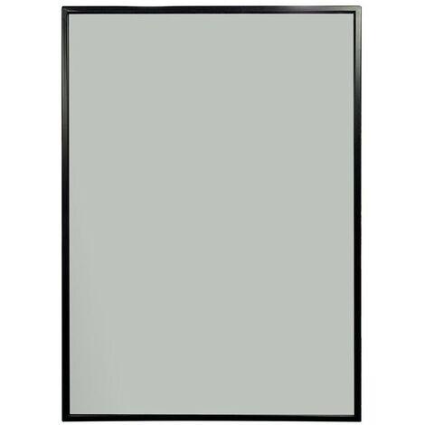 Porto Black Framed Rectangular Mirror 500mm x 700mm