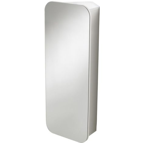 Portofino Stainless Steel Wall Mounted Mirror Cabinet