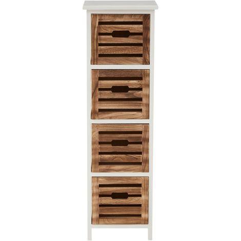 Portsmouth drawer chest,4 drawer, medium-density fibreboard