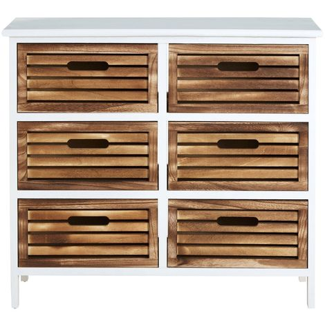 Portsmouth drawer unit, paulownia wood frame, 6 drawers