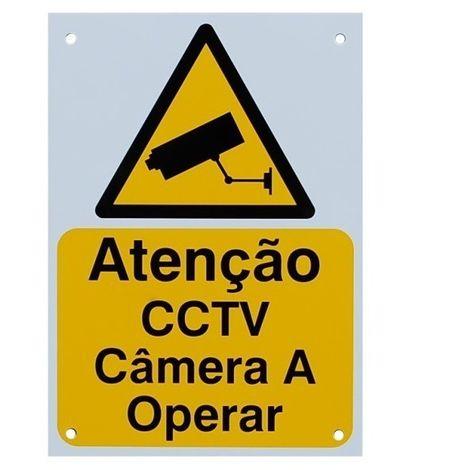 Portuguese A5 External CCTV Warning Sign [002-0536]