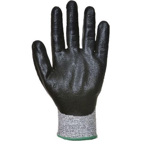 Portwest - 12 Pair Pack Cut 5 Resistant 3/4 Nitrile Foam Hand Protection Glove