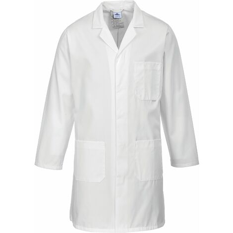Portwest 2852 - Black Standard Lab Coat Jacket sz XXL Regular