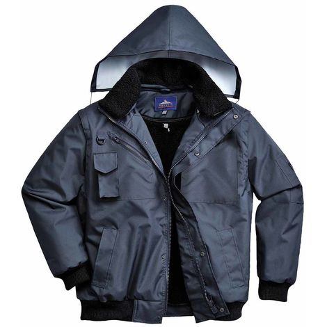 Portwest - 3-in-1 Waterproof Workwear Bomber Jacket With Hood
