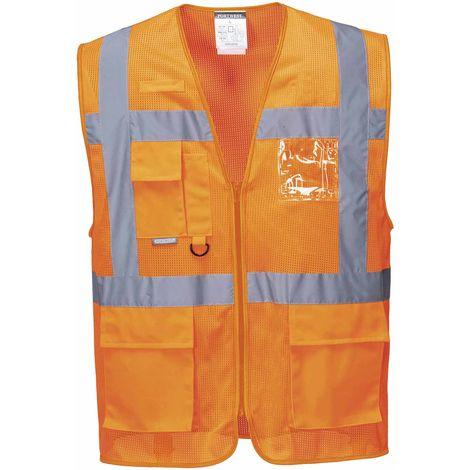 Portwest - Athens MeshAir HI-i-Vis Safety Workwear Executive Vest