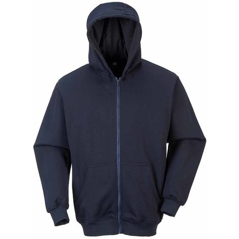 Portwest - Bizflame Flame Resistant Workwear Zip Front Hooded Sweatshirt