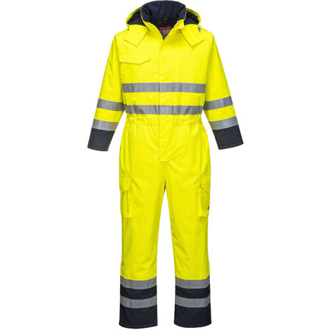 Portwest - Bizflame Rain Specialist Hi-Vis Multi Protective Safety Coverall