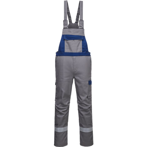 Portwest - Bizflame Ultra Two Tone Flame Resistant Workwear Bib and Brace Dungarees