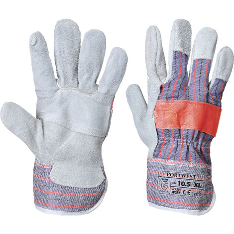 Portwest - Classic Canadian Rigger Glove (1 Pair Pack), Grey, XL,