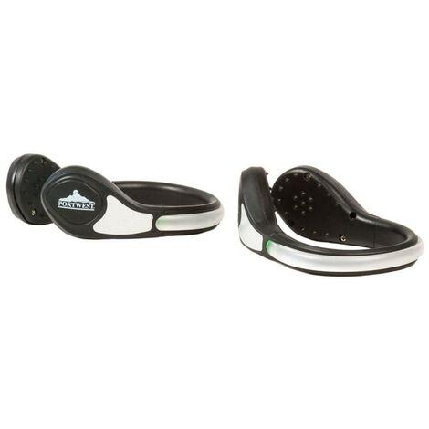 Portwest - Clip lumineux à LED pour chaussure Portwest - HV08 - Vert - Unique
