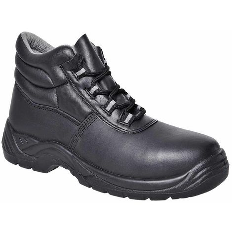 Portwest - Compositelite Work Safety Workwear Ankle Boot S1, Black, 14 UK,