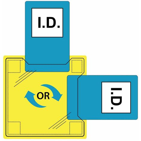 Portwest - Dual ID Holder - Sew-On Clear Regular