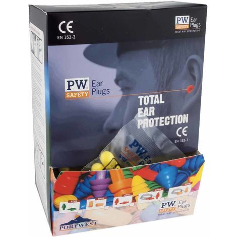 Portwest - Ear Plug Dispenser Refill Pack Orange Regular