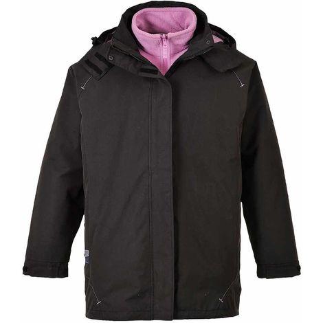 Portwest Elgin 3 in 1 Ladies Jacket - Black  - Large - S571