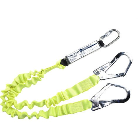 Portwest - Fall Arrest Double Elasticated Lanyard With Shock Absorber