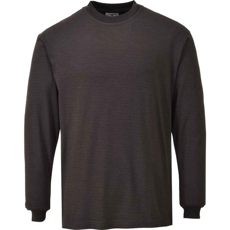Portwest - Flame Resistant Anti-Static Long Sleeve T-Shirt