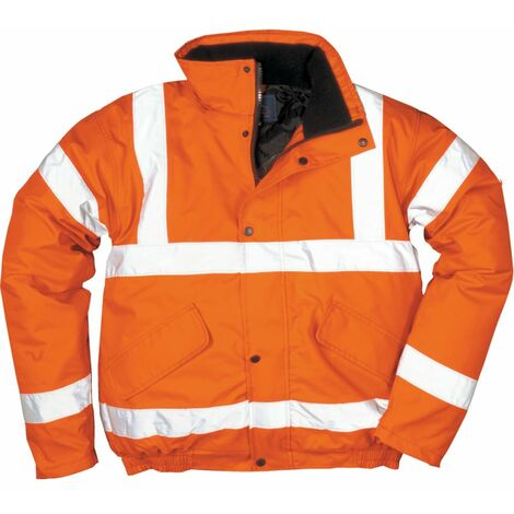 Portwest RT32 Rail Industry Hi-vis Bomber Jacket Orange (2XL)