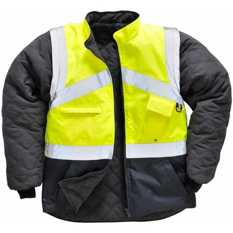 Portwest - Hi-Vis Outdoor 2-Tone Reversible Jacket With Detachable Sleeves