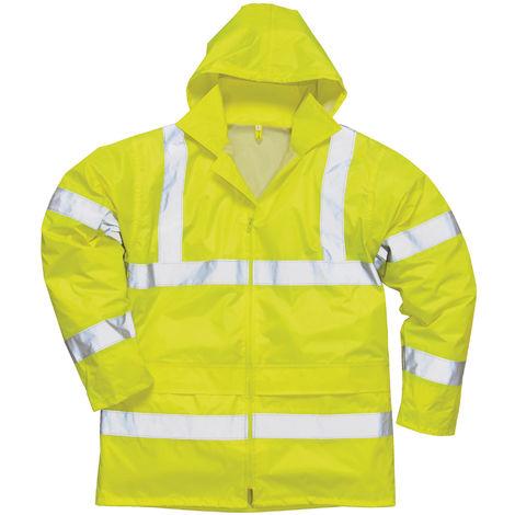 Portwest Hi-Vis Rain Jacket (H440) / Safetywear / Workwear (Pack of 2)