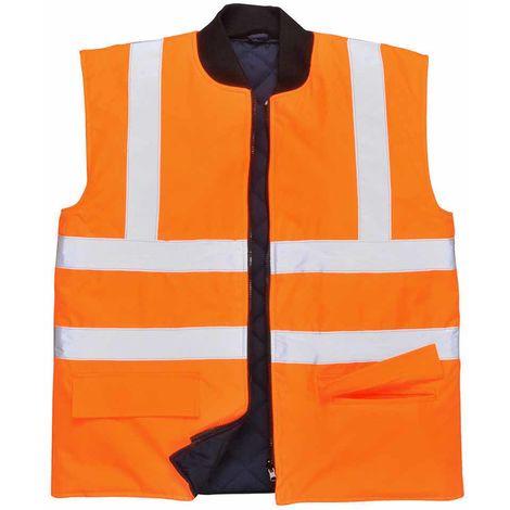 Portwest - Hi-Vis Safety Reversible Workwear Bodywarmer