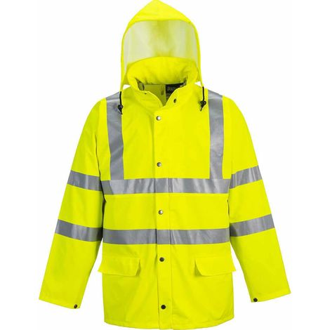 Portwest - Hi-Vis Safety Sealtex Ultra Unlined Workwear Waterproof Hooded Jacket