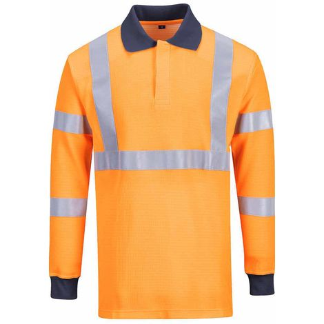 Portwest - Hi-Vis Safety Workwear Flame Resistant Rail Industry Polo Shirt