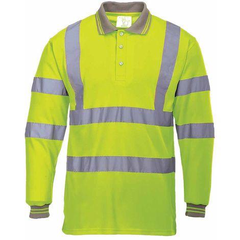 Portwest - Hi-Vis Safety Workwear Long Sleeved Polo