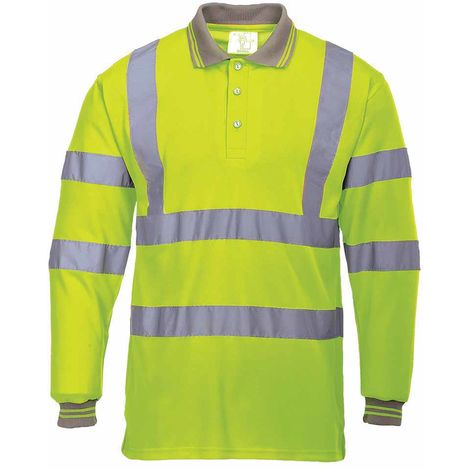 Portwest - Hi-Vis Safety Workwear Long Sleeved Polo