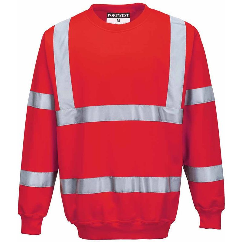 Xenon Hi-Vis Safety Workwear Long Sleeved Rugby Shirt Portwest