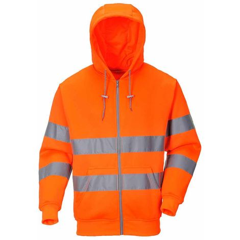 Portwest - Hi-Vis Safety Workwear Zip Front Hoodie