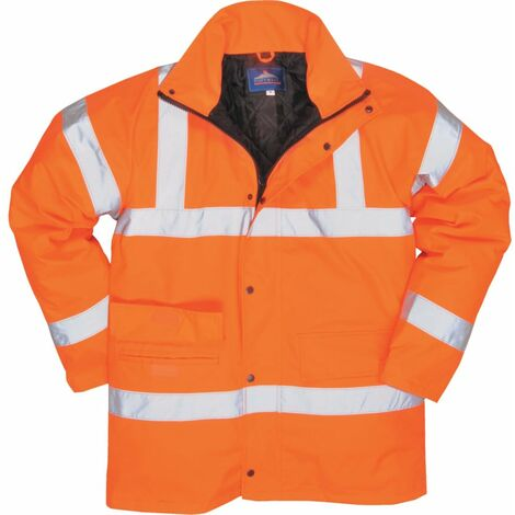 Portwest RT30 Rail Industry Hi-vis Rainwear Jacket (4XL)