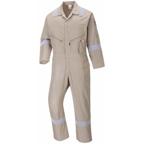 Portwest - Iona Cotton Safety Workwear Coverall Boilersuit