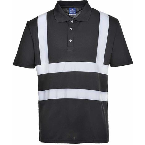 Portwest - Iona Hi-Vis Safety Workwear Short Sleeved Poloshirt