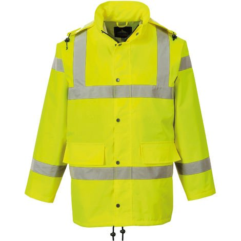 Portwest Mens Hi-Vis Waterproof Breathable Work Jacket