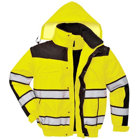 Portwest Mens High Visibility Classic All Weather Bomber Jacket (Pack of 2)
