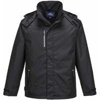 Portwest - Outcoach Waterproof Workwear Jacket Black Small