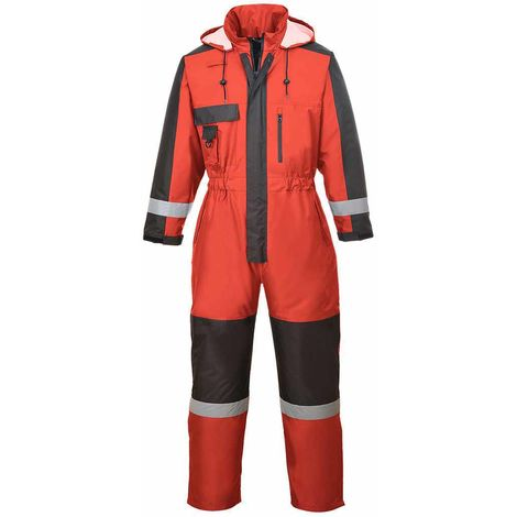 Portwest - Outdoor Workwear Functional Warm Winter Coverall With Pack Away Hood