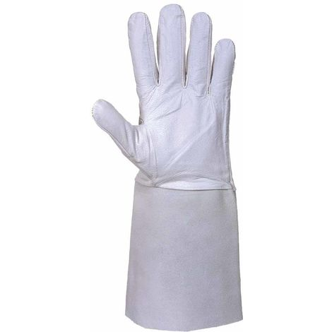 sUw - Premium Tig Welding Gauntlet Glove (1 Pair Pack), Grey, L,