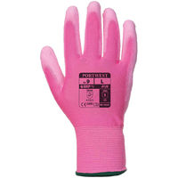 Portwest PU Palm Glove - Pink  - Large - A120