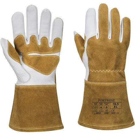 Portwest - Reinforced Winter Welding Gauntlet Glove (1 Pair Pack) Brown Large