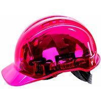 Portwest - Site Safety Workwear Peak View Hard Hat Vented Pink Regular