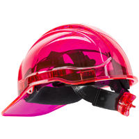 Portwest - Site Safety Workwear Peak View Ratchet Hard Hat Vented - Pink