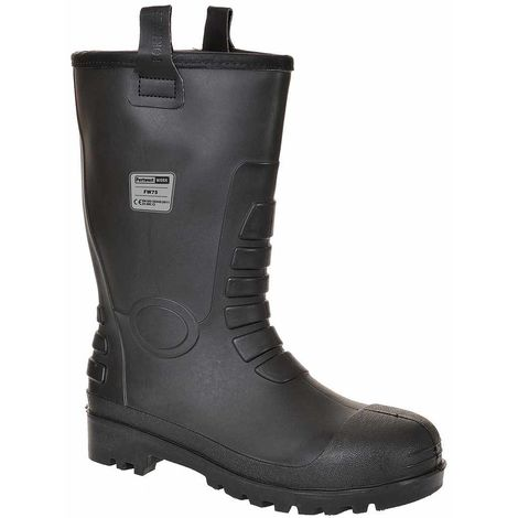 Portwest - Neptune Rigger Workwear Ankle Safety Boot S5 CI, Black, 14 UK,