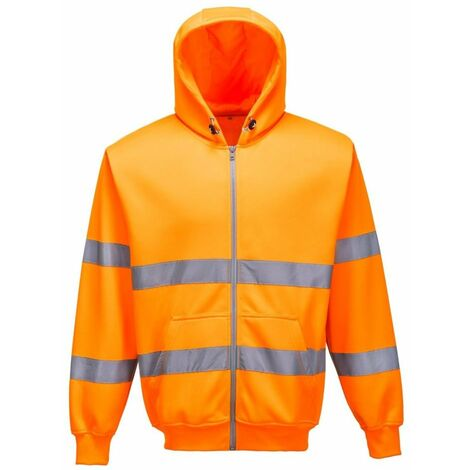 Portwest - Sweatshirt zip à capuche HV Portwest - B305
